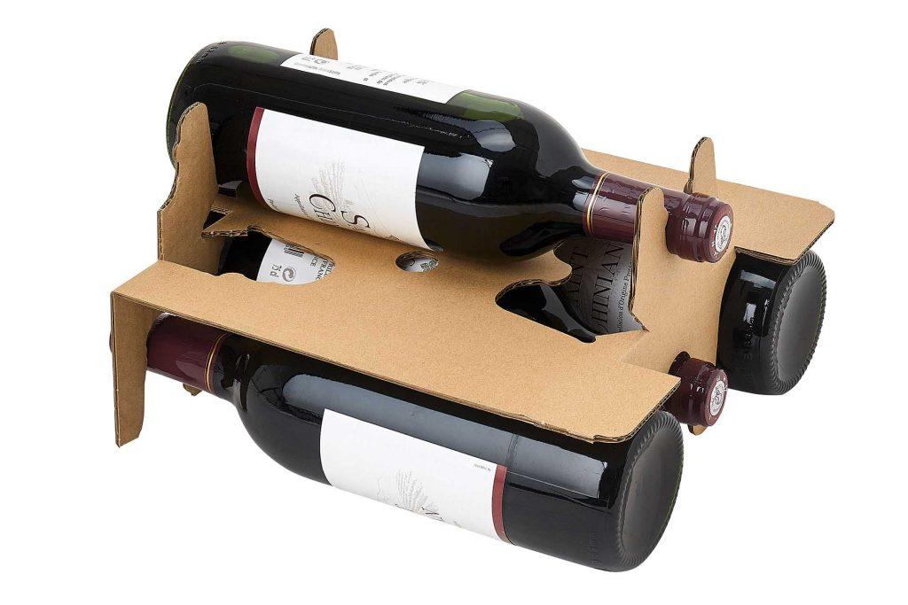 intercalaire canneles pour 6 bouteilles